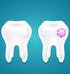 Diamonds in human teeth vector image
