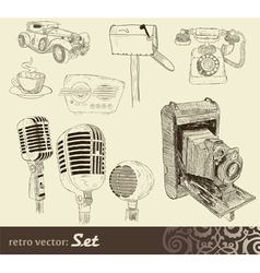 doodles set vector image vector image