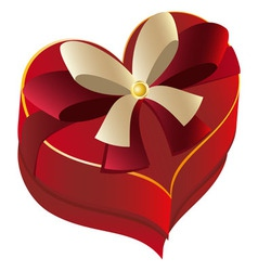 Heart Shaped Box vector image