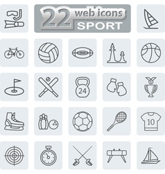 icon lines set vector image