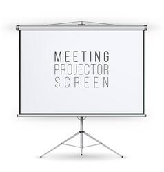 Meeting projector screen presentation vector