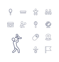 13 small icons vector