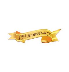 15th anniversary logo vector image