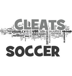 A firm step with soccer cleats text word cloud vector