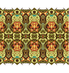 abstract ethnic nature tile stripe seamless border vector image