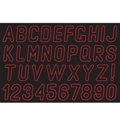 Alphabet and numbers of light vector