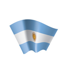 Argentina flag on a white vector