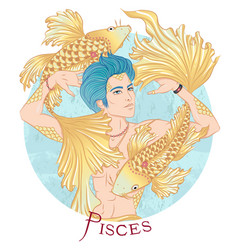 astrological sign pisces vector image