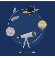 Astronomy conceptual design vector