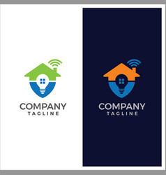 Automation house logo design template vector