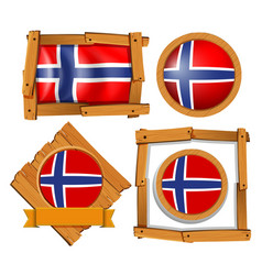 Badge design for flag of norway vector