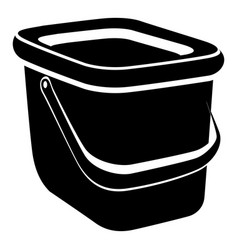 Basket icon simple style vector