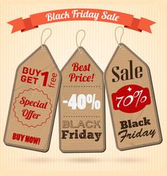 black friday sale design concept vector image
