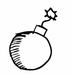 bomb freehand vector image
