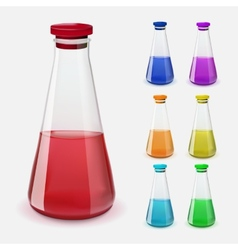 Bottles of potion vector image