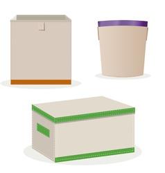Boxes toys vector