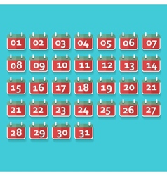 Calendar Icons Flat design vector image