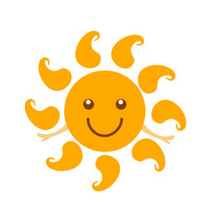 cartoon character weather forecast sign happy sun vector image
