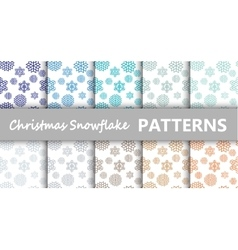 Christmas pastel snowflake vector