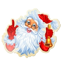 Christmas Stickers With Santa vector