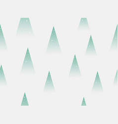 christmas trees seamless pattern triangle fir vector image