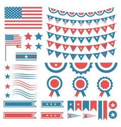 Collection of United States of America decoration vector image