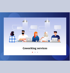 coworkers office concept coworking space vector image