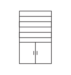 Cupboard line icon vector
