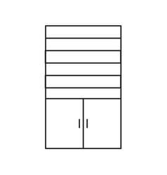 cupboard line icon vector image
