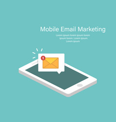 Email notification concept in isometric design vector