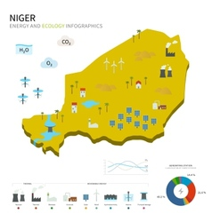 Energy industry and ecology of Niger vector