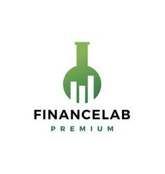 Finance lab logo icon vector