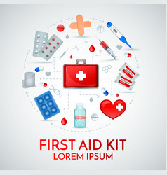 First aid realistic composition vector