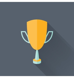 Flat yellow cup icon vector image