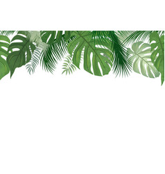 floral seamless pattern tropical palm tree leaves vector image