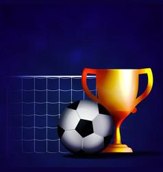 football cup mache winner vector image