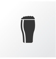 glass of beer icon symbol premium quality vector image
