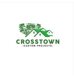 home green property logo design vector image