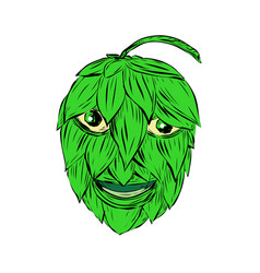 Hops man drawing vector