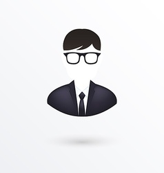 Icon of businessman isolated on white vector