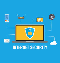 internet security concept data protection vector image