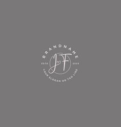 Jf letter feminine logo design vector