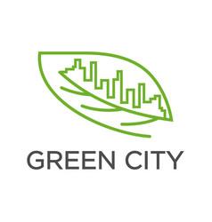 leaf city logo vector image