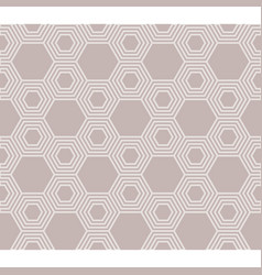 line of hexagon seamless pattern vector image