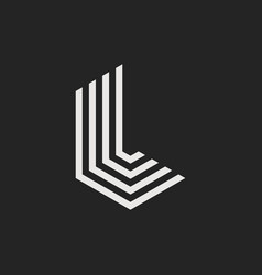 logo letter l vector image