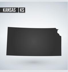 map kansas state design element flat style vector image