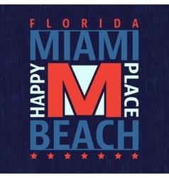 Miami vintage stamp vector