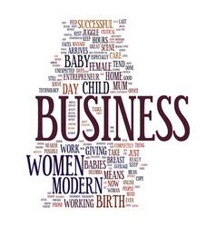 Modern female entrepreneurs business babies text vector
