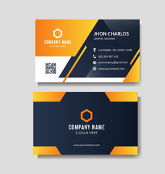 modern yellow business card vector image
