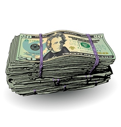 Money Bundle 20 vector
